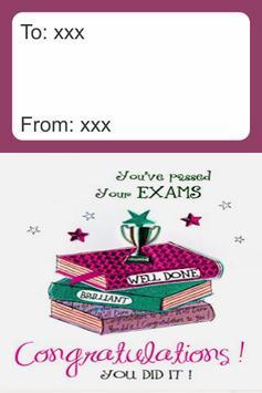 Congratulation Exam Result Card screenshot 1