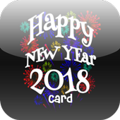 Happy New Year 2018 Card icon