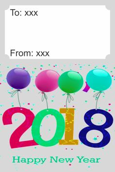 Happy New Year 2018 Card poster