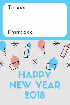 Happy New Year 2018 Card screenshot 2