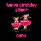 Happy Birthday Sister Card icon