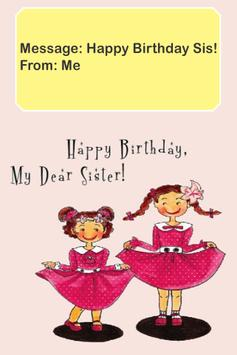 Happy Birthday Sister Card poster