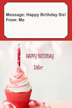 Happy Birthday Sister Card screenshot 1