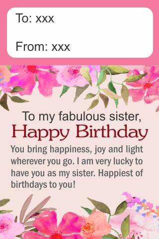 Happy Birthday Sister Greetings For Android Apk Download