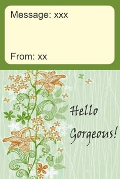 Hello Gorgeous Card screenshot 2