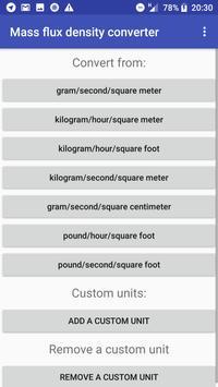 Mass flux density converter poster