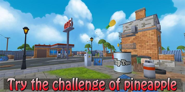 Pineapple Bottle Flip! poster