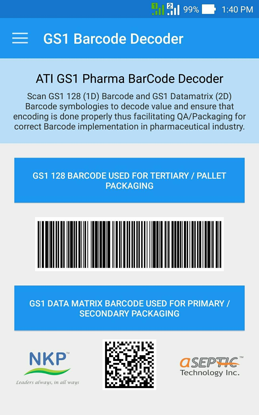 ATI GS1 Pharma Barcode Decoder for Android - APK Download
