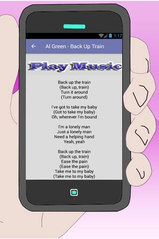 Al Green Lyrics Here I Am cho Android - Tải về APK