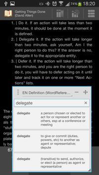 Popup Dictionary screenshot 1