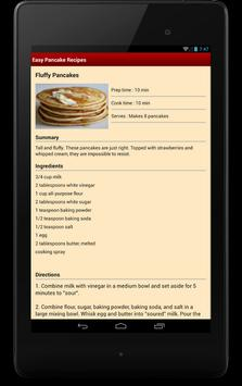 Easy Pancake Recipes apk screenshot
