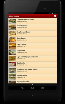 Quiche Recipes apk screenshot