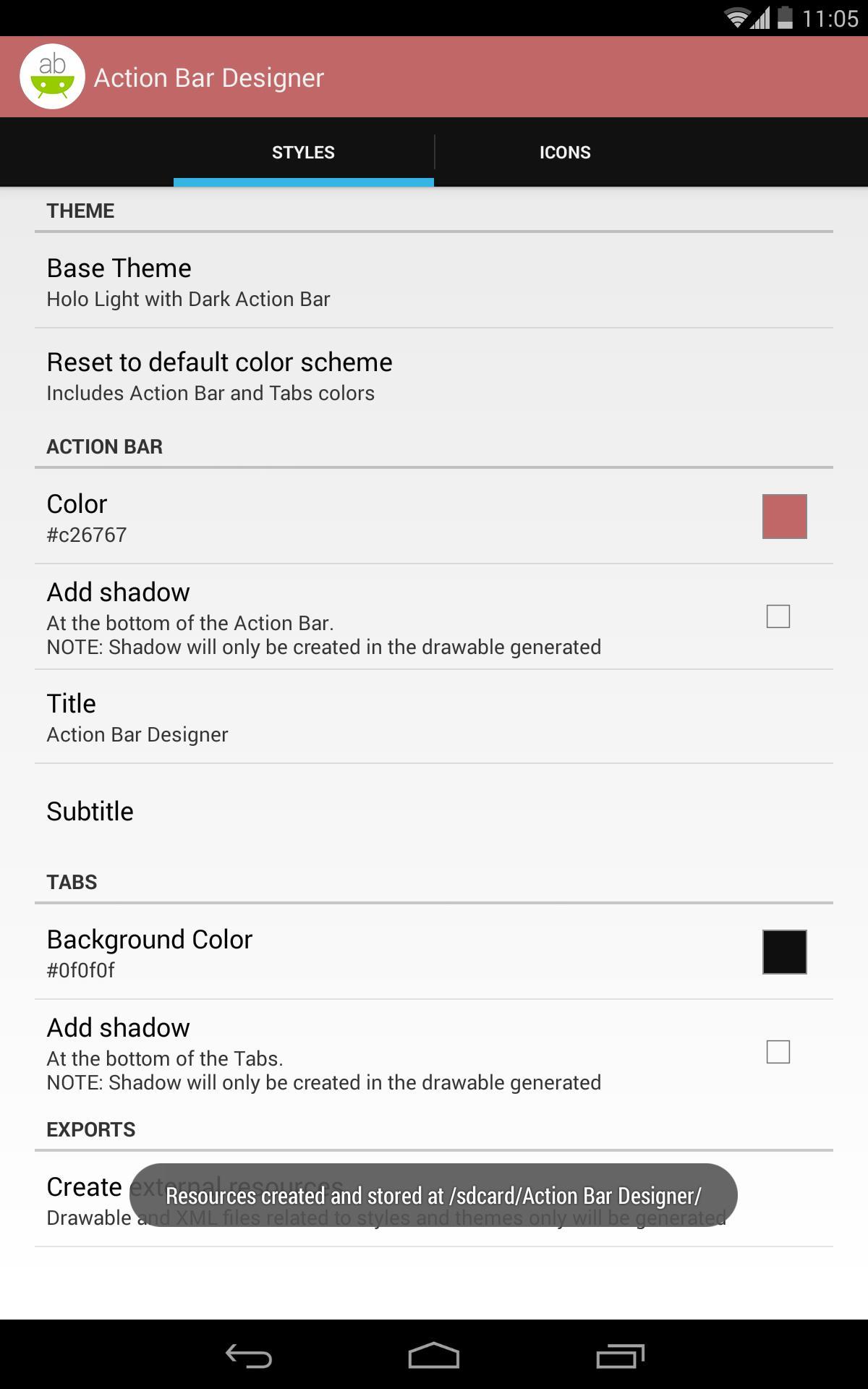 Action Bar Designer for Android - APK Download