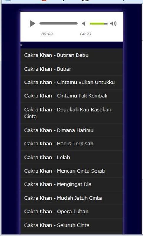 Lagu Cakra Khan Terlengkap Mp3 For Android Apk Download