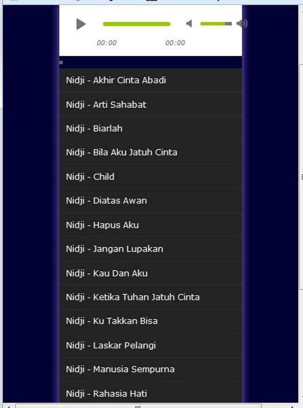 Lagu nidji lengkap mp3 for android apk download.