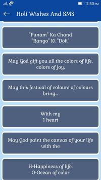 Holi Wishes And SMS apk screenshot