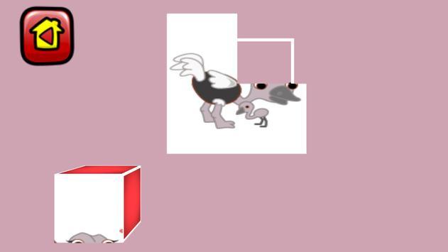 4 PIECE PUZZLE - ANIMALS apk screenshot