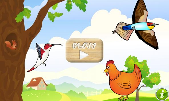Birds Game for Toddlers Puzzle poster