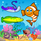 Puzzle for Toddlers Sea Fishes icon