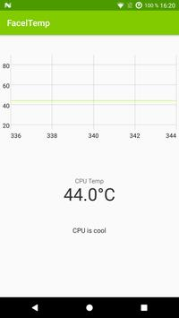 CPU temperature monitor – FacelTemp poster