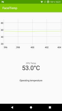 CPU temperature monitor – FacelTemp screenshot 1