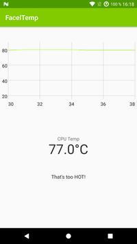 CPU temperature monitor – FacelTemp screenshot 2