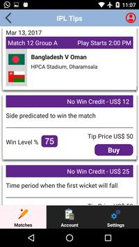 Bat for Me - The ultimate cricket prediction app apk screenshot