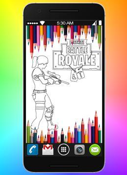 Coloring book for Battle Royal Fans poster