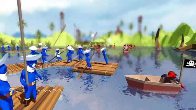 Stupid Raft Battle Simulator apk screenshot