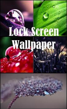 Water Drops Lock Screen poster
