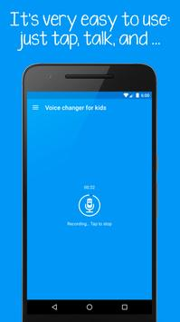 Voice changer for kids and families الملصق