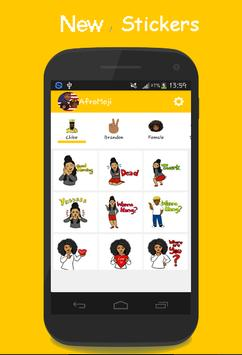 AFROMOJI : Black And Brown Skin Emoji screenshot 3