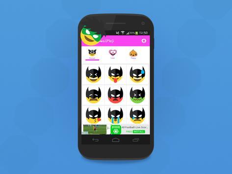 HeroMoji : Emojis And Emoticons Of HEROS apk screenshot