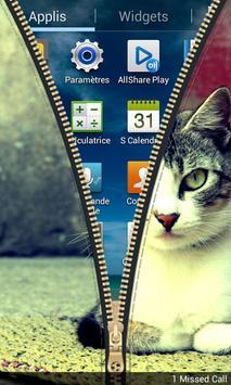Kitty Zipper Lock apk screenshot
