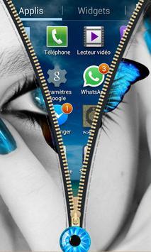 Eyes Zipper Lock Screen apk screenshot