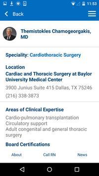 Baylor Heart Center apk screenshot