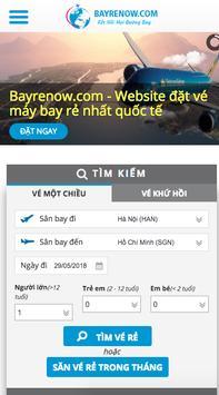 Ứng dụng săn vé giá rẻ - Bayrenow.com poster