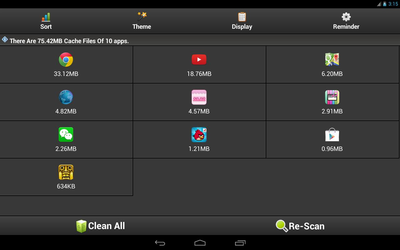 how to clear download data on android