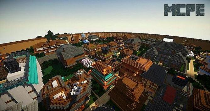 MangaCraft The village of Konoha Map for MCPE poster