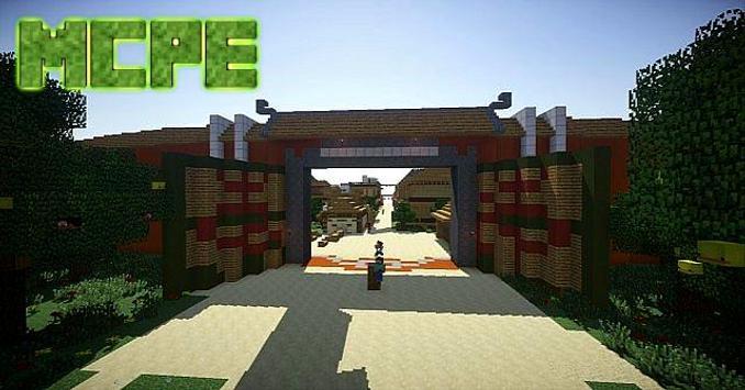 MangaCraft The village of Konoha Map for MCPE screenshot 1