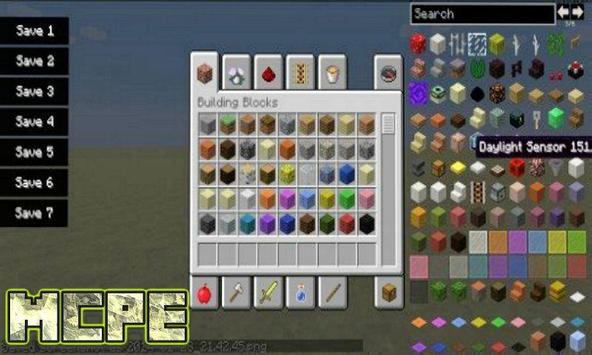 Too Many Items Mod for MCPE poster