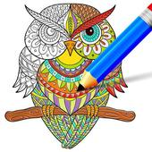 Doodle Coloring Mandala Book icon