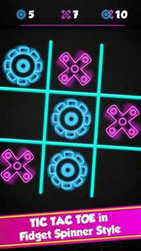 Tic Tac Toe Glow - Fidget Spinner apk screenshot
