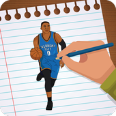 Draw NBA Basketball - Players, Face, Dunk & Coach icon