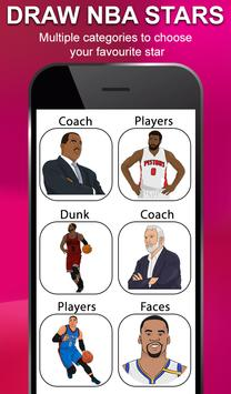 Draw NBA Basketball - Players, Face, Dunk & Coach poster