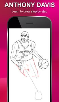 Draw NBA Basketball - Players, Face, Dunk & Coach screenshot 2