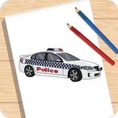 How to Draw Car Fire Helicopter Ambulance icon