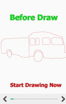 How to Draw Car Fire Helicopter Ambulance screenshot 4