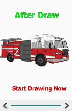 How to Draw Car Fire Helicopter Ambulance screenshot 5