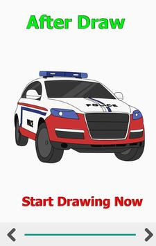 How to Draw Car Fire Helicopter Ambulance screenshot 7